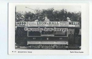 pp1916 - Brighton Tram no.27 - Pamlin postcard
