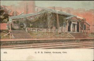 Guelph Ontario CPR RR Train Depot Station c1905 Souvenir Postcard