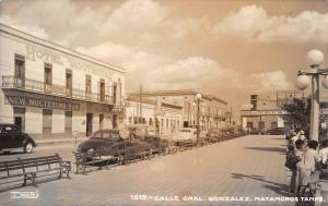 Matamoros Mexico Calle Gral. Gonzalez Real Photo Antique Postcard (J22881)