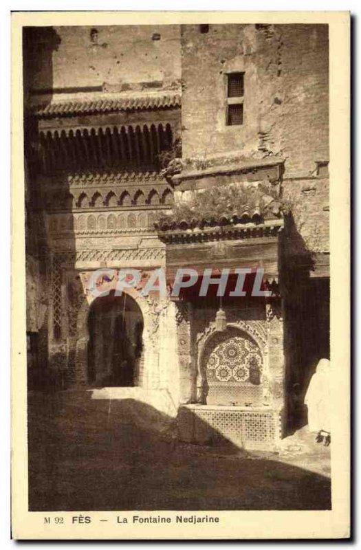 Old Postcard Fes Fountain Nedjarine