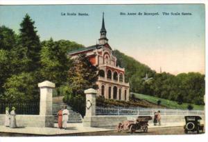 STE. ANNE DE BEAUPRE, Quebec, Canada, 1900-1910's; The Scala Santa, Classic Cars