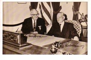 Herbert Hoover, Harry Truman in Presidential Library, West Branch, Iowa