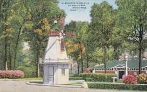 Iowa Muscatine Old Dutch Windmill At Weed Park 1955