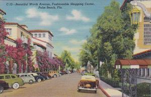 Florida Palm Beach Beautiful Worth Avenue Fashionable Shopping Center Curteich