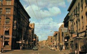 Canada King Street Looking West Kitchener Ontario Vintage Postcard 07.52