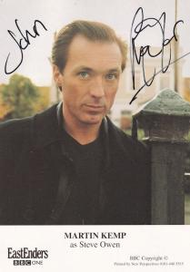 Martin Kemp Spandau Ballet Eastenders Hand Signed Cast Card Photo