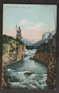 Devil's Canyon, Banff, Alberta - Used 1908 - Corner Wear
