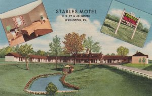 Kentucky Lexington Stabales Motel Curteich sk6911