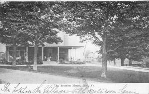 Peru Vermont Bromley House Street View Antique Postcard K88876