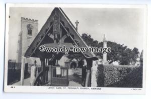 cu2424 - Lytch Gate of St. Michael's Church in Abergele - Postcard - Tuck's