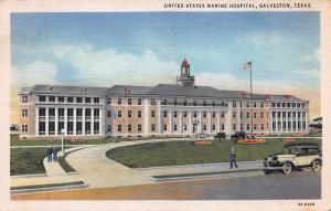 U.S. Marine Hospital, Galveston, Texas, Early Linen Postcard, Used in 1934
