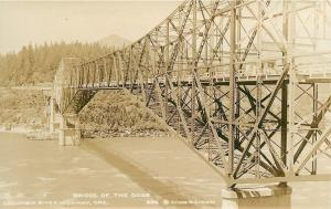 Columbia River Highway~Bridge of the Gods~Steel Truss Cantilever Toll~1920s RPPC