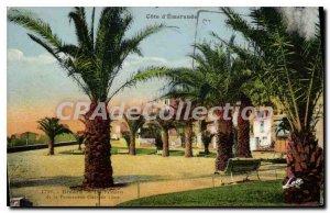 Old Postcard Dinard Palms Moon Walk Claire