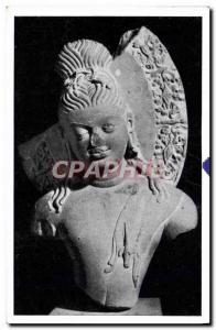 Postcard Old Bodhisattwa Sarnath India