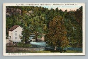 Alley Springs State Park Jack's Fork River Shannon Co 19 MO Missouri Postcard