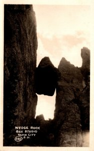 South Dakota Black Hills Wedge Rock Real Photo