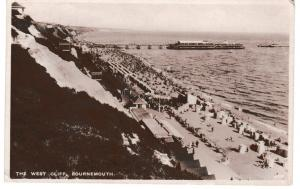 Post Card Dorset BOURNEMOUTH The West Cliff Wade's Sunny South