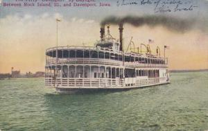The Ferry Davenport By Daylight, Between ROCK ISLAND, Illinois, And DAVENPO...