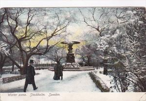 Sweden Stockholm Typical Winter Scene 1910