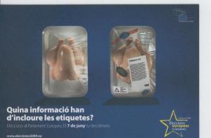 Postal 6613 : Publicitaria elecciones al parlamento europeo