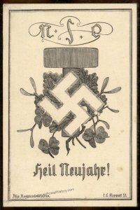 Austria NSDAP 1921! Nazi Party Deutsch-Oesterreich Propaganda Card 93823