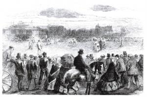 Art Postcard, 1865 A Game of Cricket at The Lord's Cricket Ground, London 75K