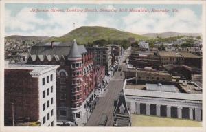 Virginia Roanoke Jefferson Street Looking South Showing Mill Mountain