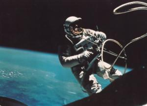 Moon Landing Space Walk Gemini 4 London Planetarium 1970s Astronomy Postcard