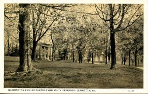 VA - Lexington. Washington & Lee University Campus from South Entrance