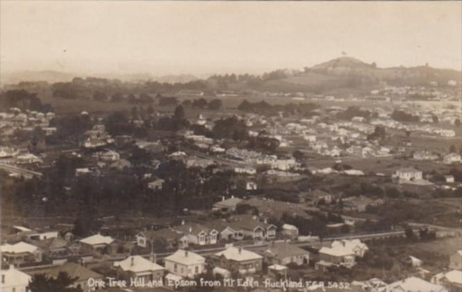 New Zealand Auckland One Tree Hill & Epsom From Mount Eden Real Photo