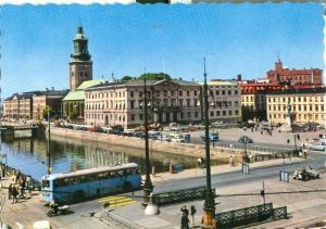 Sweden, Goteborg, Gustaf Adolfs Torg med Radhuset 1966 used