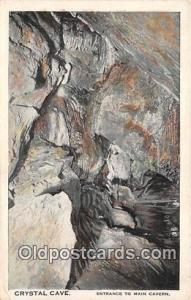 Cave, Caverns, Vintage Postcard Cave, Caverns, Vintage Postcard Crystal Cave