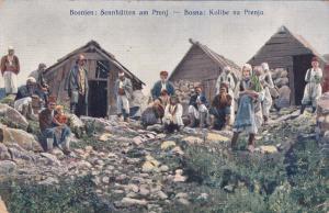 Bosnien: Sennhutten am Prenj.-Bosna: Kolibe na Prenju, PU-1910