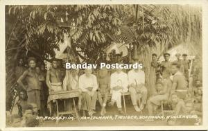 papua new guinea, BOGADJIM, German Missionaries with Anang (1910s) RPPC
