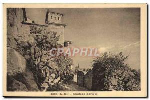 Old Postcard Eze Castle Barlow