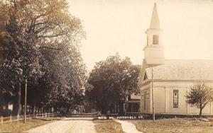 Pittsfield Vermont~Main Street Church & Homes~Dirt Road~c1912 Real Photo~RPPC