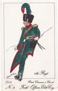 Polish Chasseurs 1810 4th Regiment Field Officer Soldier Napoleonic War Postcard