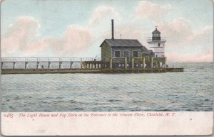 Charlotte, N.Y., The Light House & Fog Horn at the Entrance to the Genesse River