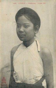 Cochinchine - Vietnam Tonkin Haïduong Jeune fille - 04.04
