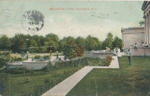Buffalo NY, New York - Scene in Delaware Park - pm 1907 - DB