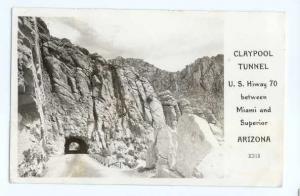 RPPC Claypool Tunnel, Hwy 70 Between Miami & Superior, Arizona, AZ, 1947