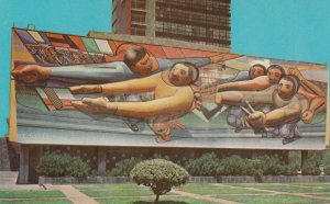 UNIVERSITY CITY , Mexico , 1950-60s ; Mural in raised work