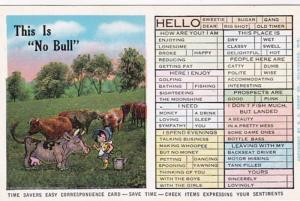 Humour Busy Persons Correspondence Card This Is No Bull