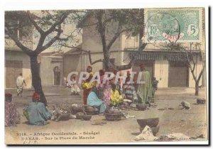 West Africa Senegal Dakar Old Postcard On the market place