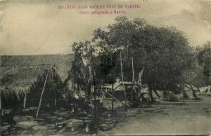 french polynesia, Society Islands, HUAHINE MAEVA, Native Houses (1899) Postcard