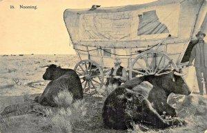 WELLS SPRING OREGON~NOONING ON THE PLAINS~EZRA MEEKER OREGON TRAIL 1906 POSTCARD