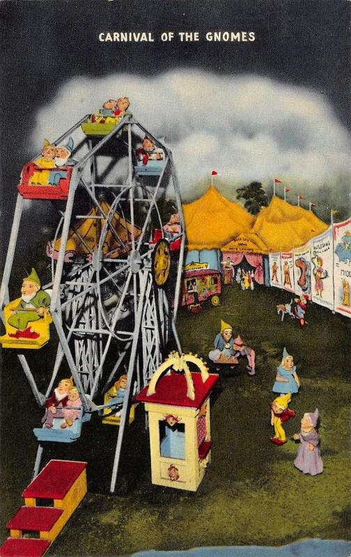 Lookout Mountain Tennessee~Fairyland Caverns Carnival of Gnomes Midway~1953 PC