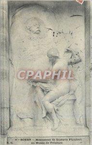 Old Postcard ROUEN Monument Gustave Flaubert Painting Mus�e