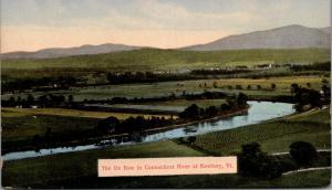 Newbury Vermont~Birdseye: Connecticut River Ox Bow~1910 Postcard