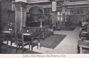 Lobby, Hotel Stewart, San Francisco, California,  PU-1909